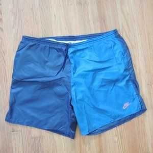 Nike Vintage Swim Trunks Colorblock 90s Shorts